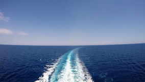 Cruise ship track on the sea stock footage