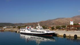Cruise Ship, Travel Crete, Greece Stock Images