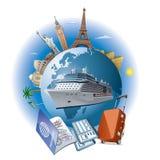 Cruise ship travel Stock Image