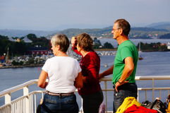 Cruise ship travel, Langesund, Norway Stock Photography