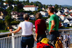 Cruise ship travel, Langesund, Norway Stock Images