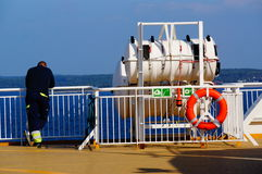 Cruise ship travel, Langesund, Norway. Stock Images
