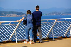 Cruise ship travel, Langesund, Norway. Stock Image