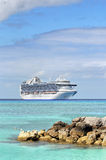 Cruise Ship in Tropical Waters Stock Photos