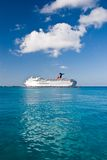Cruise ship on tropical waters Royalty Free Stock Photos