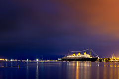 Cruise ship in the twilight Royalty Free Stock Photo