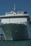 Cruise ship upclose. Shot of a cruise ship upclose Stock Photography