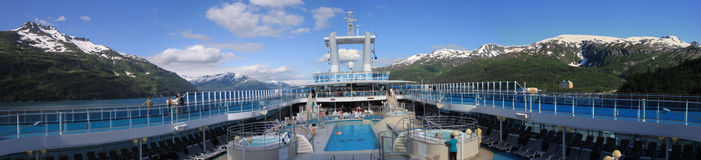 Cruise-ship upper deck Royalty Free Stock Images