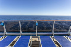 Cruise ship upper deck Royalty Free Stock Photo