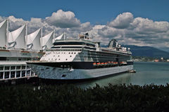 Cruise Ship, Vancouver BC Canada royalty free stock images
