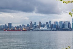 Cruise Ship at Vancouver Harbor Royalty Free Stock Photo