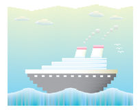 Cruise ship vector Royalty Free Stock Photography