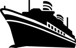 Cruise Ship vector. Cruise Ship ocean sail vector royalty free illustration
