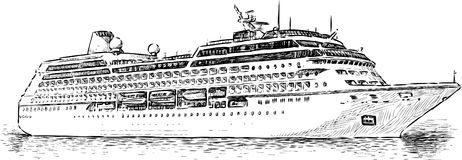 Cruise Ship Isolated Side View on house plans drawing app