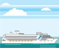 Cruise ship vector Royalty Free Stock Images