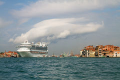 Cruise ship in Venice. Royalty Free Stock Image