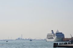 Cruise ship in Venice Stock Images