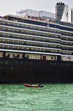 The cruise ship in Venice Stock Photography