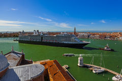 Cruise ship in Venice Italy Royalty Free Stock Photos