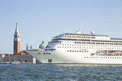 Cruise ship in Venice Royalty Free Stock Photography
