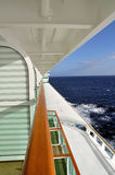 Cruise ship view from the balcony Royalty Free Stock Image