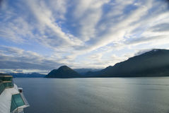 Cruise Ship View Juneau Alaska Royalty Free Stock Photography