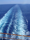 Cruise ship wake Royalty Free Stock Images