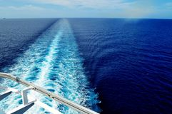 Cruise Ship Wake Royalty Free Stock Photography
