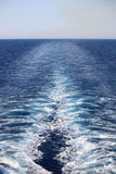 Cruise ship wake Stock Photo