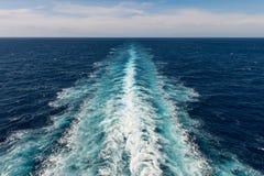 Cruise ship wake Royalty Free Stock Image