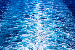 Cruise ship wake Stock Photography