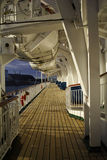 Cruise ship walkway Stock Photo
