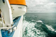 On the cruise ship. In water Royalty Free Stock Photo