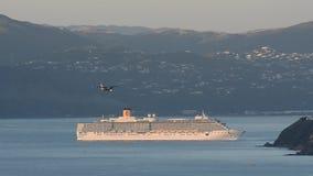 Cruise ship in Wellington NZ