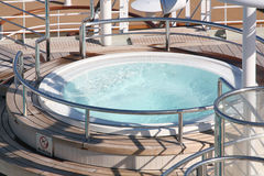 Cruise ship whirlpool. A whirlpool at the queen mary 2 Royalty Free Stock Images