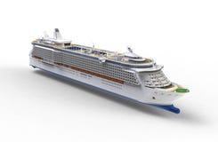 Cruise ship on white. Background Royalty Free Stock Photos