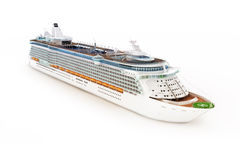 Cruise ship on white Stock Image