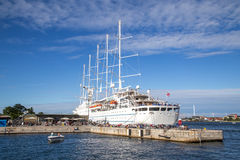 Cruise ship Wind Surf in Copenhagen Royalty Free Stock Photos