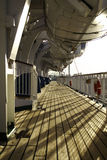 Cruise Ship Wooden Deck Royalty Free Stock Photo