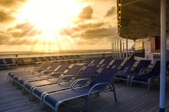 On Cruise Ship Royalty Free Stock Photography