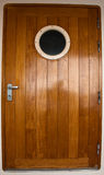 Cruise ship wooden door Royalty Free Stock Photography