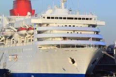 Cruise ship at Yokohama Osanbashi Pier royalty free stock photos