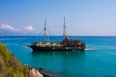 Cruise ship  Zakynthos Greece Royalty Free Stock Photos