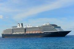 Cruise Ship Zuiderdam in Bahamas. Holland American Line Cruise ship Zuiderdam anchore offshore in Half Moon Cay (Little San Salvador Island), Bahamas royalty free stock image