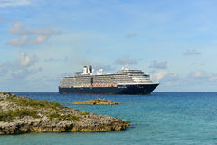 Cruise Ship Zuiderdam in Bahamas Royalty Free Stock Image