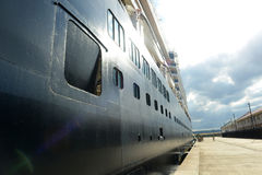 Cruise Ship Zuiderdam in Jamaica Royalty Free Stock Photography