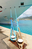 Cruise Shipped Moored at Port royalty free stock photography