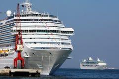 Cruise ships 001 stock photography