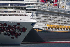 Cruise ships. Docked in Port Canaveral Royalty Free Stock Photos