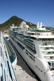 Cruise Ships. Docked in Port Royalty Free Stock Photography
